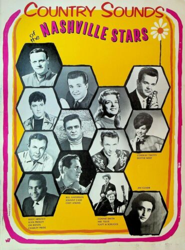Country Sounds of the Nashville Stars Songs & Photos 1968 Johnny Cash Elvis