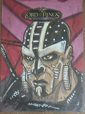 Topps LOTR The Creator of the Rings EVOLUTION aftermarket sketch card by TOM HODGES