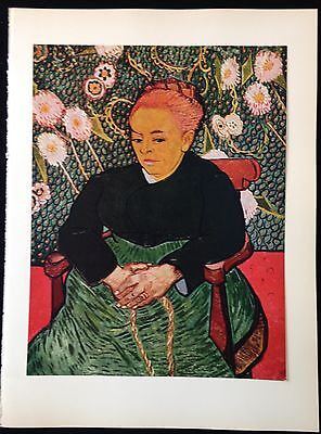 """1950 Vintage Full Color Art Plate """"LA BERCEUSE"""" by VAN GOGH LOVELY Lithograph"""