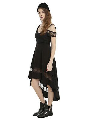 ROYAL BONES by TRIPP BLACK COLD SHOULDER GOTHIC PIRATE STEAMPUNK HI-LOW DRESS - Steampunk Dresses