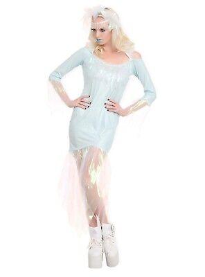 Eiskönigin Wulstig Kostüm Damen Größe S M 18 + Disney die Aufkleber Elsa Anna