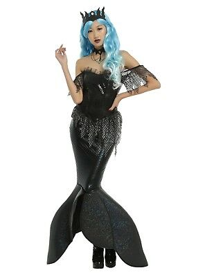 SEXY GOTHIC COSPLAY DARK MERMAID QUEEN SIREN COSTUME NWT SM HALLOWEEN](Dark Mermaid Costume)