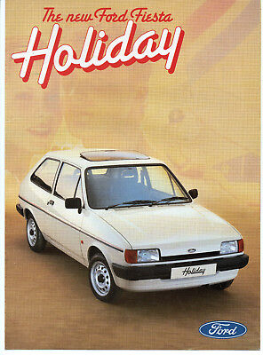 VERY RARE FORD FIESTA MK2 HOLIDAY SPECIAL EDITION BROCHURE 1986 & PRICE LIST