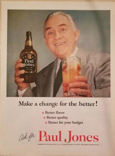 Paul Jones 5 print ads Life 1936-1954
