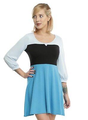 DISNEY LITTLE MERMAID ARIEL ON LAND COSPLAY COSTUME BLUE - Ariel Land Dress