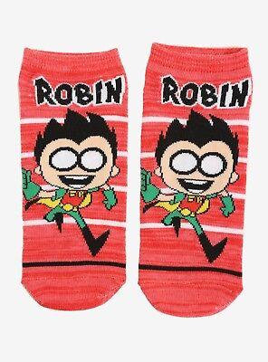 Teen Titans Go! Robin No Show Socks One Size No-Show Socks 1 Pair New](Robin Socks)