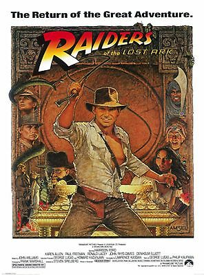 Indiana Jones Movie Poster Raiders Of The Lost Ark Harrison Ford 24 X36    New