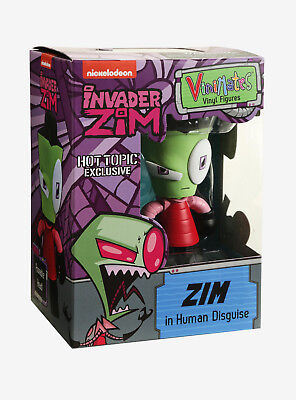 LE INVADER ZIM GIR In Human Disguise Vinyl Figure Hot Topic Exclusive Vinimates Invader Zim Human Disguise