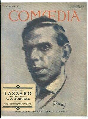 COMOEDIA RIVISTA TEATRO NUMERO 10 1925 BORGESE G. A. LAZZARO FERNANDO PALAZZI