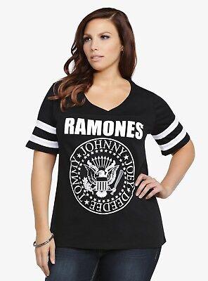 Torrid RAMONES FOOTBALL Women's Girls Plus Size T-Shirt NEW 100% Authentic