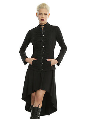ROYAL BONES by TRIPP ROPE FRONT GOTHIC PUNK ROCKER BIKER BLACK TWILL JACKET Clothing, Shoes & Accessories