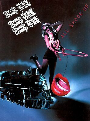 CHEAP TRICK 1980 ALL SHOOK UP TOUR CONCERT POSTER PROGRAM / NEAR MINT 2 MINT