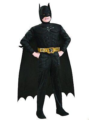 Batman Kids Costume ( Batman Dark Knight Rises Deluxe Muscle Chest Child Costume Large 10-12)