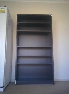 Bookshelf - Dark brown and black, Ex-government