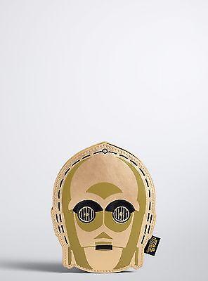 """Torrid Star Wars C3PO Coin Money Purse 4.25"""" x 5.5"""" #41"""