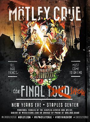 "MOTLEY CRUE ""THE FINAL SHOW - NEW YEARS EVE"" 2015 LOS ANGELES CONCERT POSTER"