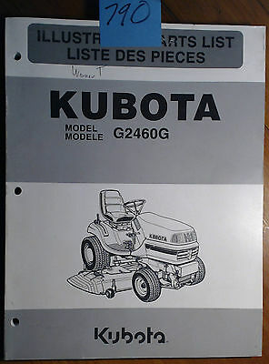 Kubota G2460g Lawn Tractor Illustrated Parts List Manual 97898-41330 501