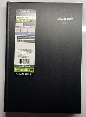 2021 Monthly Planner By At-a-glance 8 X 11-34 Large Hardcover Dayminder Bl...