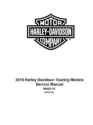 Harley Davidson Flhx Street Glide 2016 Service   Electrical Diagnostic Manual Cd