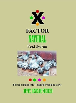 RACING PIGEON BOOK X Factor NATURAL Feed System