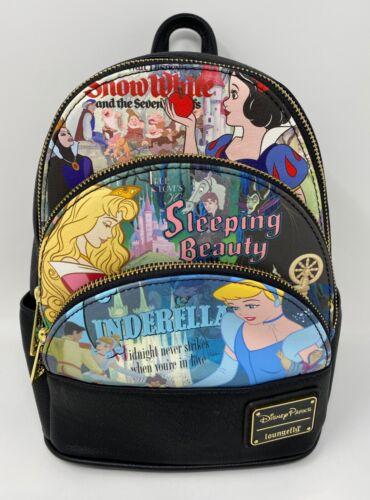 NWT Loungefly Disney Parks Princess Mini Backpack Snow White~Sleeping Beauty dp4