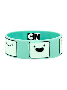 NEW Adventure Time With Finn and Jake - BMO Beemo Face Green Rubber Bracelet