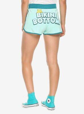 Spongebob Squarepants Pjs (Spongebob Squarepants Bikini Bottom Women's Booty Shorts Pajama Bottoms S M L)