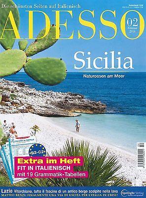 ADESSO, Heft Februar 02/2014 inkl. evviva! - Italienisch-Magazin +++ wie neu +++
