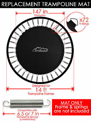 "SkyBound 147"" Trampoline Mat w/ 72 V-Rings (Fits w/ 14' Frames & 7.0"" Springs)"