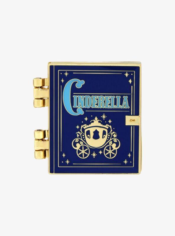 Disney's Cinderella Hinged Opening Story Book Enamel Pin Loungefly SEALED