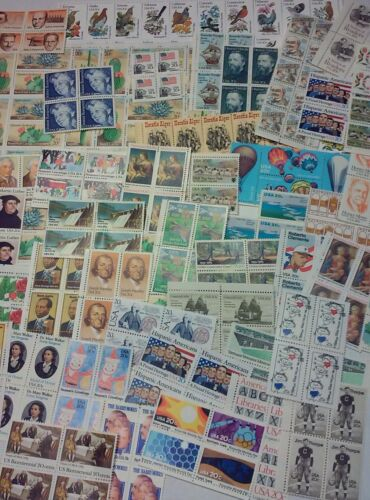 Unused 100 Assorted Mixed Multiples & Singles of 20¢ US Postage Stamps FV $20.00