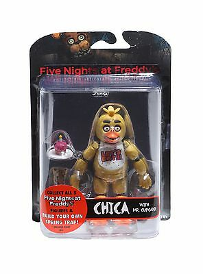 Fnaf Five Nights At Freddys Chica Articulated Figure W  Mr Cupcake Brand New