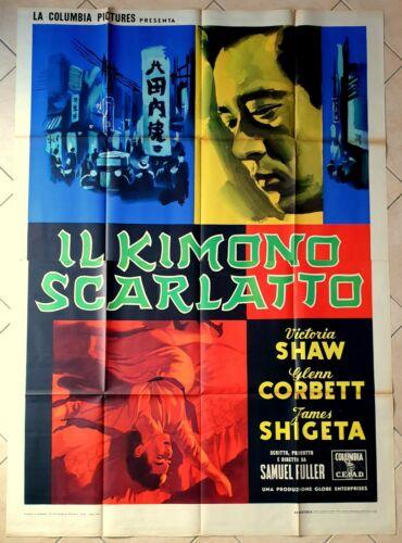 POSTER ITALIAN MOVIE MEMORABILIA THE CRIMSON KIMONO FULLER SHAW THRILLER HORROR