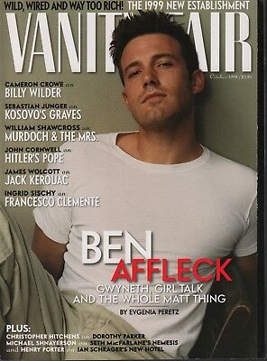 Vanity Fair October 1999 Ben Affleck Billy Wilder Jack Kerouac 070418DBE