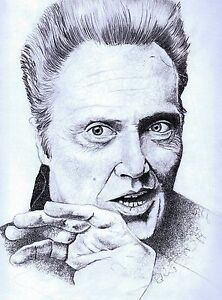 CHRISTOPHER-WALKEN-limited-edition-art-print-hand-signed-artwork-8-5x11-10-100