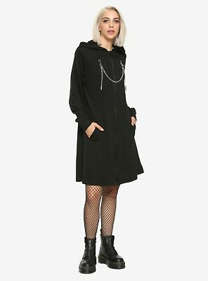 OFFICIAL DISNEY KINGDOM HEARTS ORGANIZATION XIII BLACK Duster Jacket HOODIE COAT - Disney Official Costumes