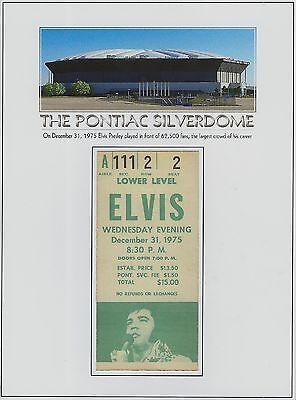 ELVIS PRESLEY live concert REPLICA ticket December 31, 1975 Pontiac Silverdome