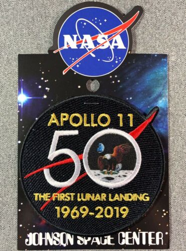 NASA APOLLO 11 50TH ANNIVERSARY PATCH Official Authentic SPACE 4in