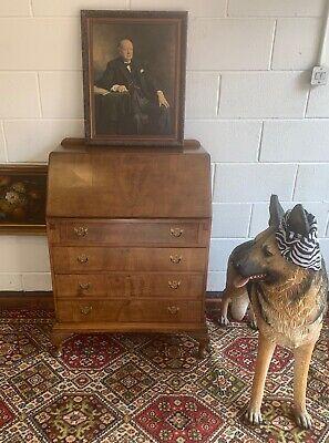 Vintage Wooden Bureau With Four Drawers Writing Desk Stationery Storage Retro