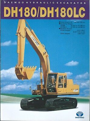 Equipment Brochure - Daewoo - Dh180 Dh180lc - Hydraulic Excavator C1987 E4914