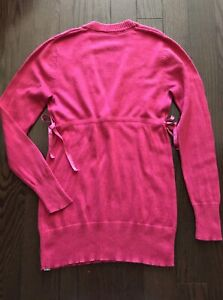 Lululemon pink cashmere dance sweater wrap pullover size 6