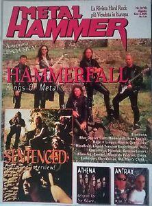 METAL-HAMMER-N-8-98-HAMMERFALL-SENTENCED-ATHENA-ANTHRAX-BLUE-OYSTER-CULT