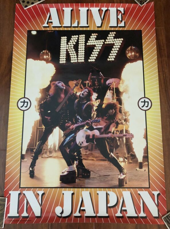 KISS POSTER ALIVE IN JAPAN RARE OFFICIAL RELEASE ACE GENE PETER PAUL