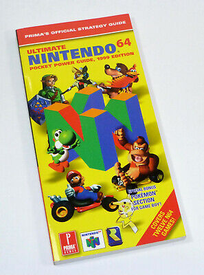 Prima's Ultimate Nintendo 64 N64 Pocket Power Strategy Guide, Zelda, Mario Kart