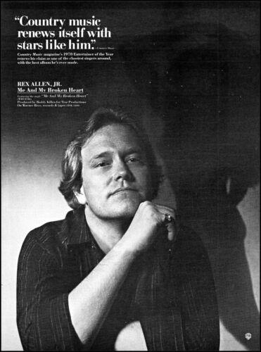 1979 Rex Allen Jr. Me and My Broken Heart Album Release retro photo print ad  XL
