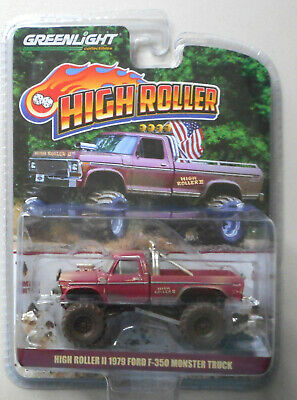 Toy Monster Truck (High Roller II 1979 Ford F-350 Monster Truck Dirty Hobby GREENLIGHT DIECAST)