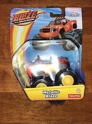 Blaze and the Monster Machines Metallic Blaze Truck Die-Cast Toy Vehicle New (Monster Machine)