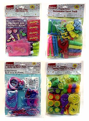 WAL-MART Way To Celebrate 48pc PARTY FAVORS Bag Filler BOYS/GIRLS *YOU CHOOSE*