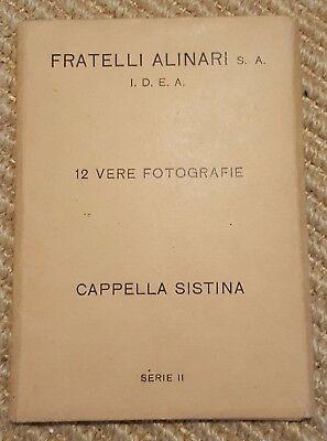 Sistene Chapel - Fratelli Alinari - set of 15 vintage postcards - in card folder