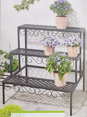 Blumentreppe, eckig Pflanzentreppe Blumenregal Blumenbank / NEU!